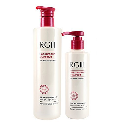 520ml + 240ml - Hair Regeneration Clinic Shampoo with Purified Red Ginseng Saponin & 6 Naturally Derived Ingredients for Hair Loss / Regrowth / Strengthening / for both Men & Woman by RGIII