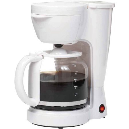 Mainstays 12-Cup Coffee Maker, White