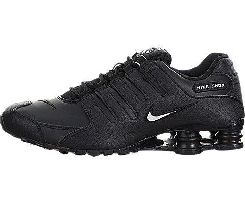 Nike Men's Shox NZ Running Shoe Black/White/Black - 10 D(M) US (Shox Shoe Sneaker)