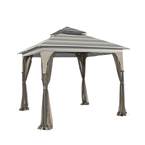 Garden Winds Replacement Canopy for L-GZ375PST-3 Gazebo – 350 – Stripe Stone