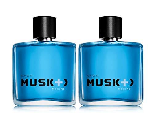 Musk Marine - Musk + plus Marine Eau de Toilette Spray 2.5 Fl Oz LOT OF 2 brand new Fresh (Box has minor wear)