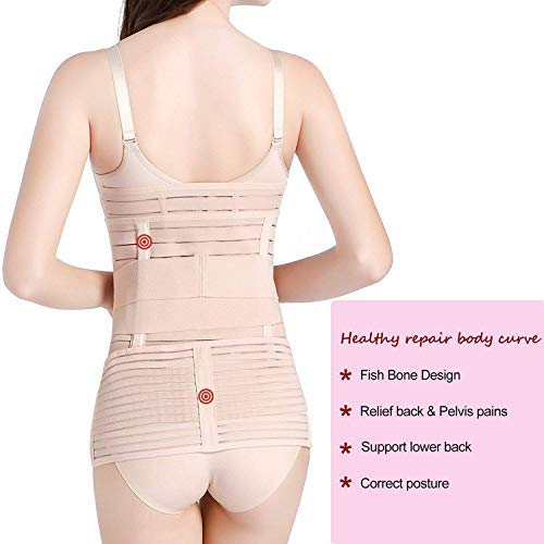 Hip Mall 3 In 1 Postpartum Girdle Support Recovery Belly