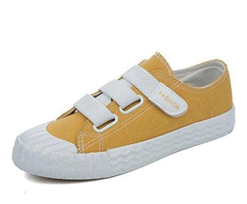 Colori Daily Movimento Basse Scarpe Subacquei Studenti Nvxie Shoes Leisure Flat Yellow Amoi Bottoni Donna Aiuto Quattro qpxw7fg