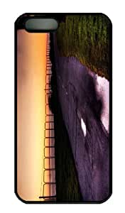 iPhone 5S Case - Customized Unique Design Road Along The Sea New Fashion PC Black Hard