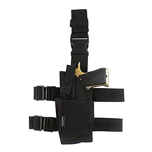 Drop Leg Holster, Left Handed Adjustable Tactical Thigh Pistol Gun Holster Leg Harness