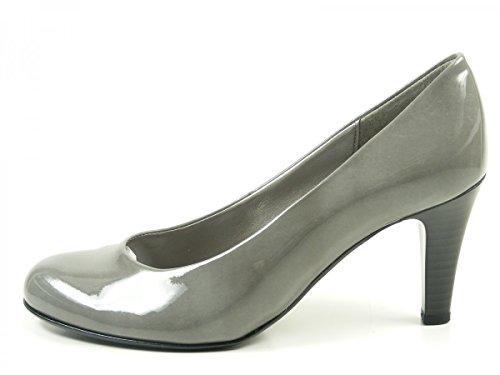 Gabor 75-210 Schuhe Damen Kaffir Lack Pumps Weite F, Schuhgröße:37;Farbe:Grau