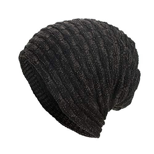 URIBAKE ❤ Women's Men's Knitted Baggy Weave Crochet Winter Warm Wool Ski Beanie Unisex Solid Skull Caps -