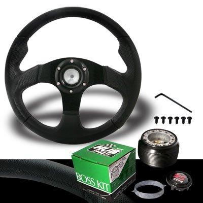 1990-1997 Mazda Miata Jet Black Steering Wheel with Hub Adaptor