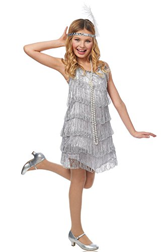 Silver Flapper Kids Costume ()