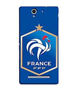 ColorKing Football France 14 Blue shell case cover for Sony Xperia C3