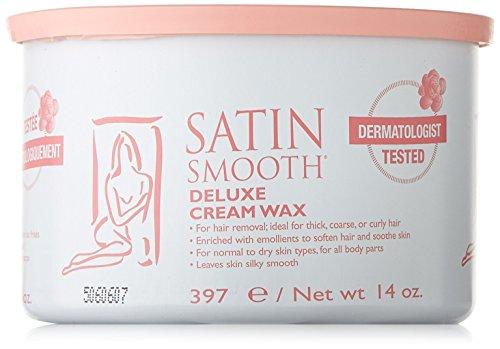 Satin Smooth Waxing (Satin Smooth Deluxe Cream Pot Wax, 14 Ounce)