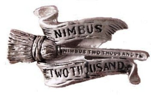 Harry Potter Pewter Nimbus 2000 Pin