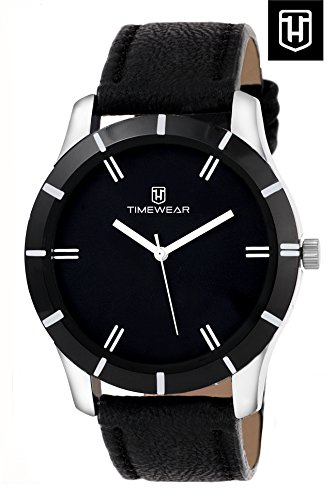 H Timewear Analogue Black Dial Men's Watch -131BDTG