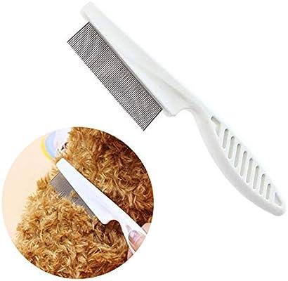 FOONEE Cepillo de Limpieza para Mascotas, Herramienta de pulgas para Ayudar a Reducir la pérdida de Pelusa y Eliminar pulgas para Perros y Gatos