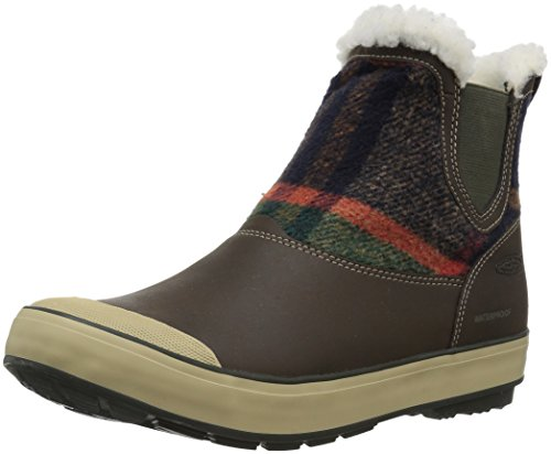 KEEN Women's Elsa Chelsea WP-w Snow Boot, Coffee Bean Wool, 8.5 M US by KEEN