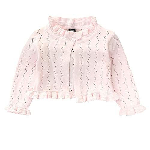 - Baby Infant Toddler Girls Princess Long Sleeve Open Front Bolero Shrug Kids Basic Jacket Cardigan Sweater Top Fen 110 Pink