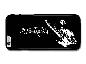 """AMAF ? Accessories Jimi Hendrix Signature Black and White Illustration Playing Guitar case for iPhone 6 Plus (5.5"""")"""