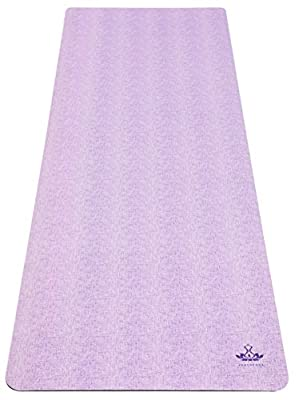 "Heathyoga Synergy Yoga Mat Non Slip Hot Yoga Mat, Yoga Towel & Mat 2in1 Lightweight & Optimal Cushioning 72""x 26"" Thickness 5mm …"