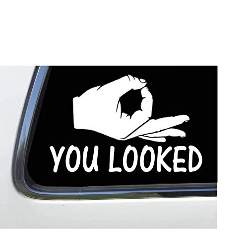 """ThatLilCabin - Circle Game solid Hand You Looked 6"""" vinyl sticker decal HM1587"""