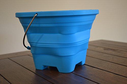Packable Pails Collapsible Beach Pail 4l Blue