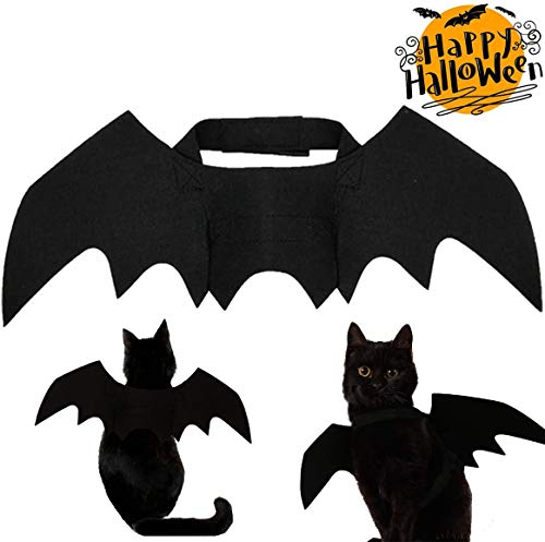 Strangefly Cat&Dog Halloween Costume,Bat Hat+Bat Wings Apparel Suit,Holiday Cosplay,Party Dress Up,Cute,Funny and Cool…