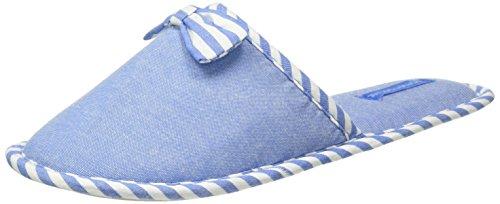 Women'Secret C1 BASIC SLPRS - Zapatillas de estar por casa, Mujer Azul