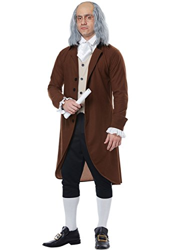 California Costumes Men's Benjamin Franklin-Colonial Man-Adult Costume, Brown/Tan/Black, X-Large]()