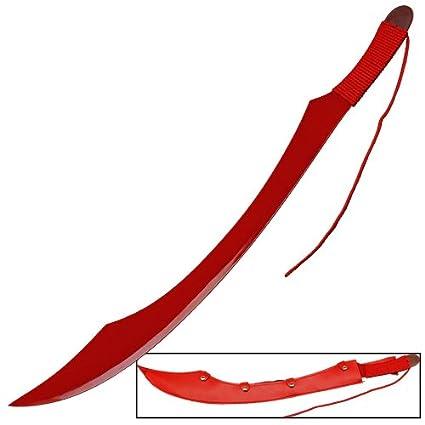 Amazon.com: Anime japonés Sangre Clan espada rojo réplica ...
