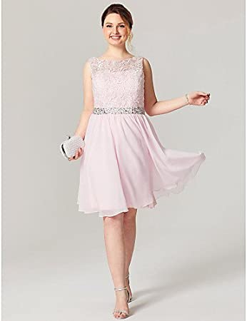 a39b5a1ce HY&OB A-Line Jewel Neck Knee Length Chiffon Lace Cocktail Party Homecoming  Dress With Beading