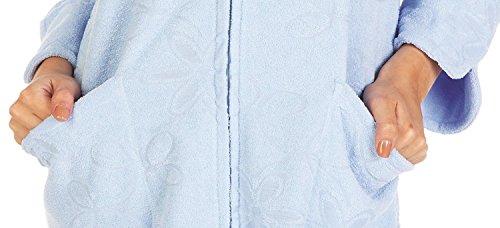lunghe Accappatoio FOREX Donna Lingerie Maniche Blu Floreale UxSI4q
