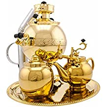 "Samovar on coal, charcoal, firewood 2.5 liter ""Ball"" in the set ""Gift"""