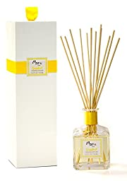 Manu Home Grapefruit Reed Diffuser ~ Made with Essential Oils ~ Includes two bundles of Natural and Brown Sticks~