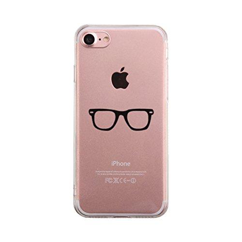 365 Printing Nerdy Eyeglasses iPhone 7 7S Phone Case Cute Clear - Eyeglasses 365