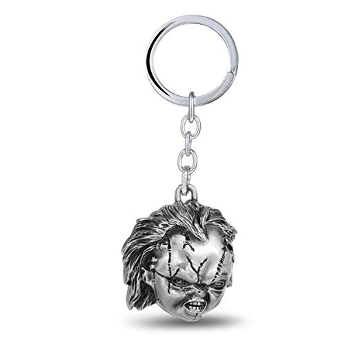 FITIONS - ping Classic Flim Child's Play Bride Of Chucky 3D Coslay Keychains 4cm Pendant Metal Keyring for Fans Children -
