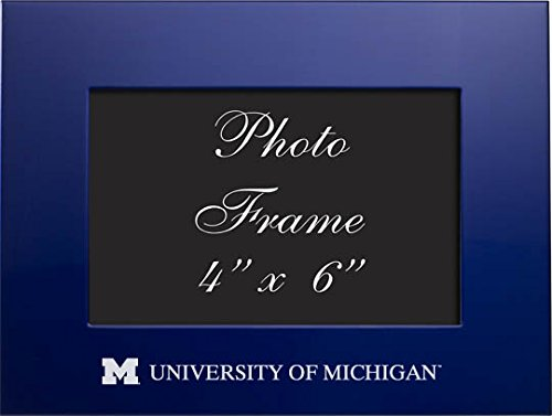 LXG, Inc. University of Michigan - 4x6 Brushed Metal Picture
