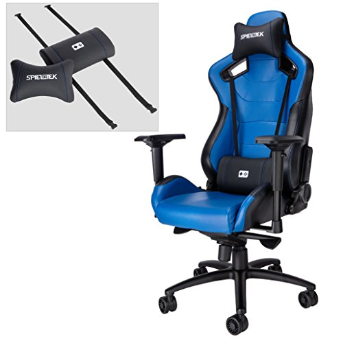 Spieltek Admiral Gaming Chair Blue Gaming Chairs