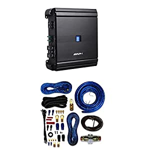 Alpine MRV-M500 Mono V-Power Digital Amplifier With 4 Gauge AMP Kit