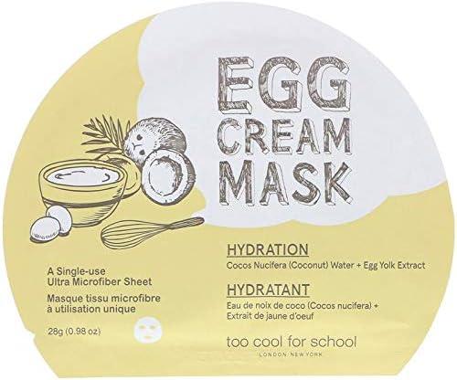 Too Cool for School, Egg Cream Mask, Hydration, 1 Sheet, (0.98 oz) 28 g