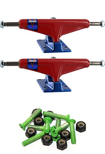 Venture Trucks V-Lights Pennant Red/Blue Skateboard Trucks with 1