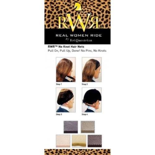 Real Women Ride No Knot Hair Net Black