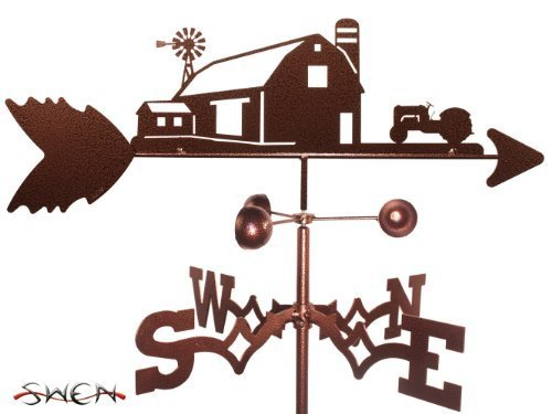 FARM SCENE 8N 9N FORD TRACTOR GARDEN Stake Weathervane ~NEW~ by SWEN Products