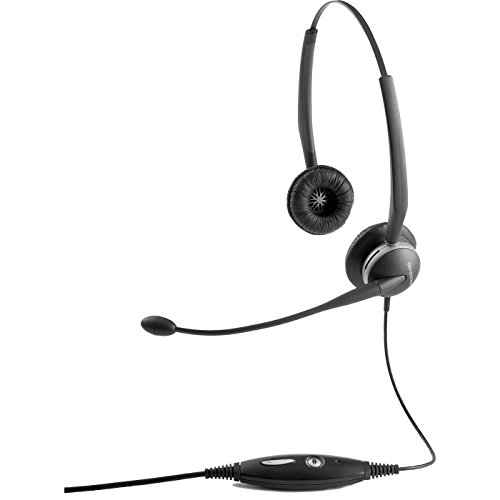 Jabra GN2125 Duo  Corded Quick Disconnect Headset for Deskphone, Softphone or Mobile Phone (Gn Netcom Phone)