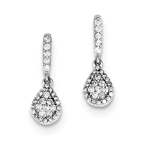 Sterling Silver Diamond Earrings by CoutureJewelers