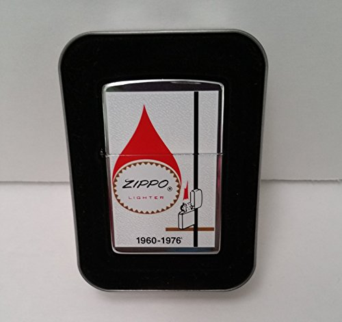 Zippo Lighter 2001 Polished Chrome Finish Tear-drop Logo 1960-1976 (Logo Drop)