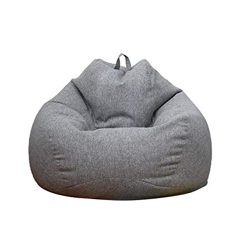 Sofa Bean Bag Chair Sofa Cover Removable Lazy Lounger Bean Bag Storage Soft Sofa Coat Sofa Slipcover for Indoor Outdoor