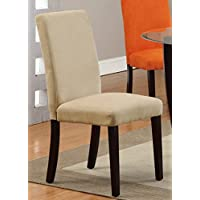 Poundex Dining Chair, Saddle Finish, Set of 2