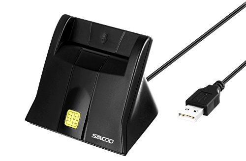 Saicoo DOD Military USB Common Access CAC Smart Card Reader, Compatible with Mac Os, Win (Vertical - Readers Lay