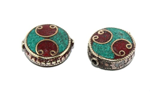 (Handmade Nepalese Tibet Coral Turquoise Beads)