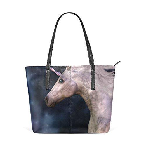 Borsa A Tracolla Per Borse Da Donna In Pelle Di Vitello Grigia Unicorno Coosun Dapple