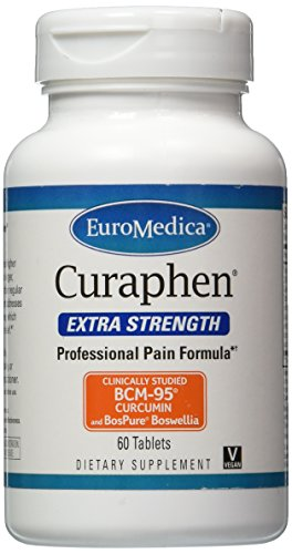 Euromedica Curaphen Extra Strength Tabs, 60 Count